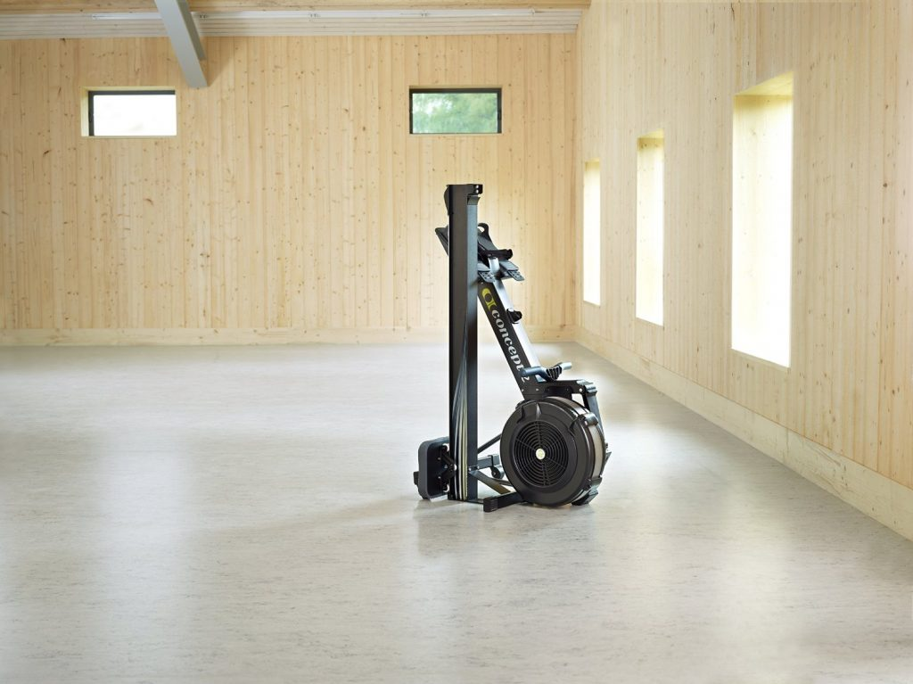 picture of the Concept2 Model D Indoor Rowing Machine with PM5 folded