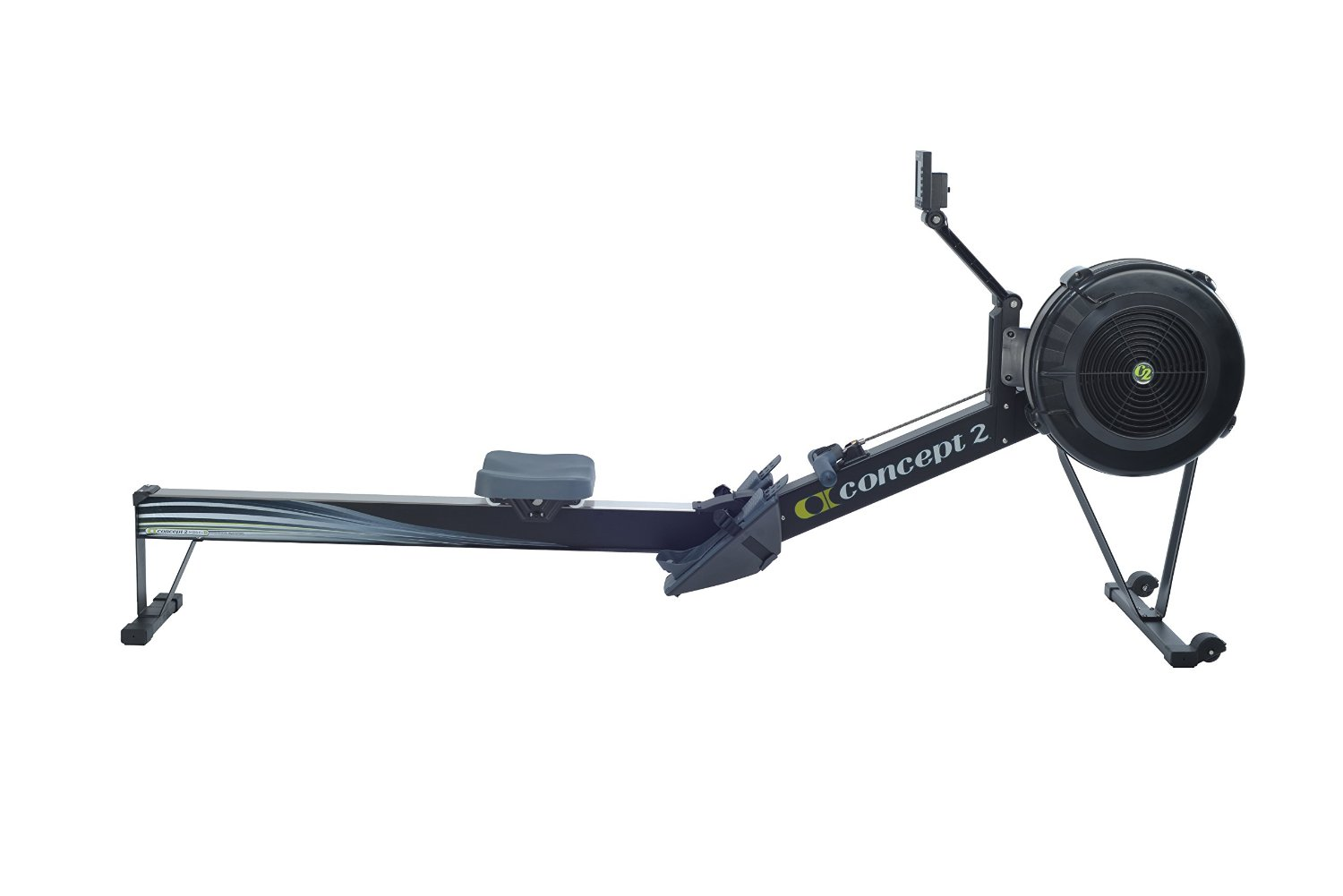 the Concept2 Model D Indoor Rowing Machine With PM5 in full display
