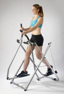 lady working out on the gazelle edge