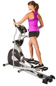 picture of woman working out on the Horizon Fitness EX-69-2 Elliptical Trainer