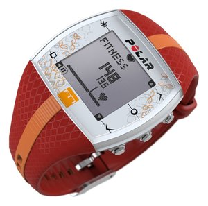 the Polar FT7 Heart Rate Monitor - red/orange color