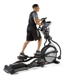 image showing the Sole Fitness E35 Elliptical Machine in full swing