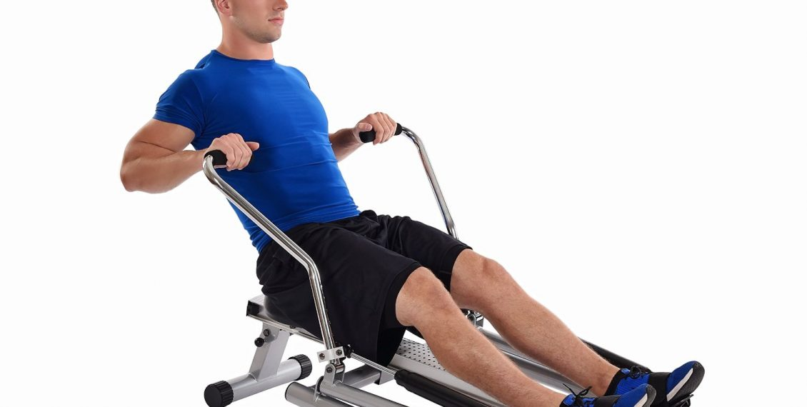 image depicting how fluid working out on the Stamina 1215 Orbital Rowing Machine is