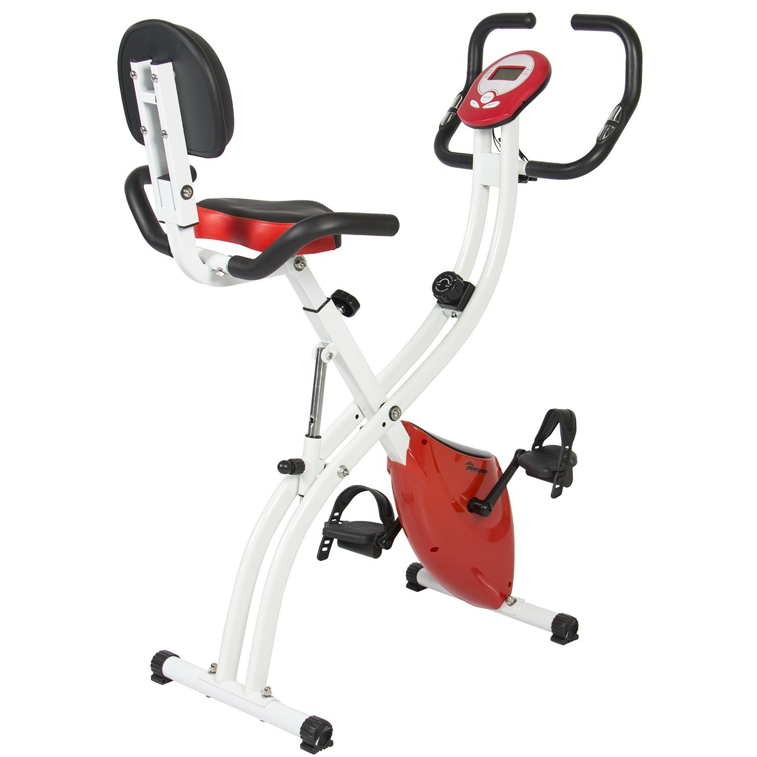 image showing the Best Choice Products Folding Adjustable Magnetic Upright Exercise Bike Fitness Upgraded Machine
