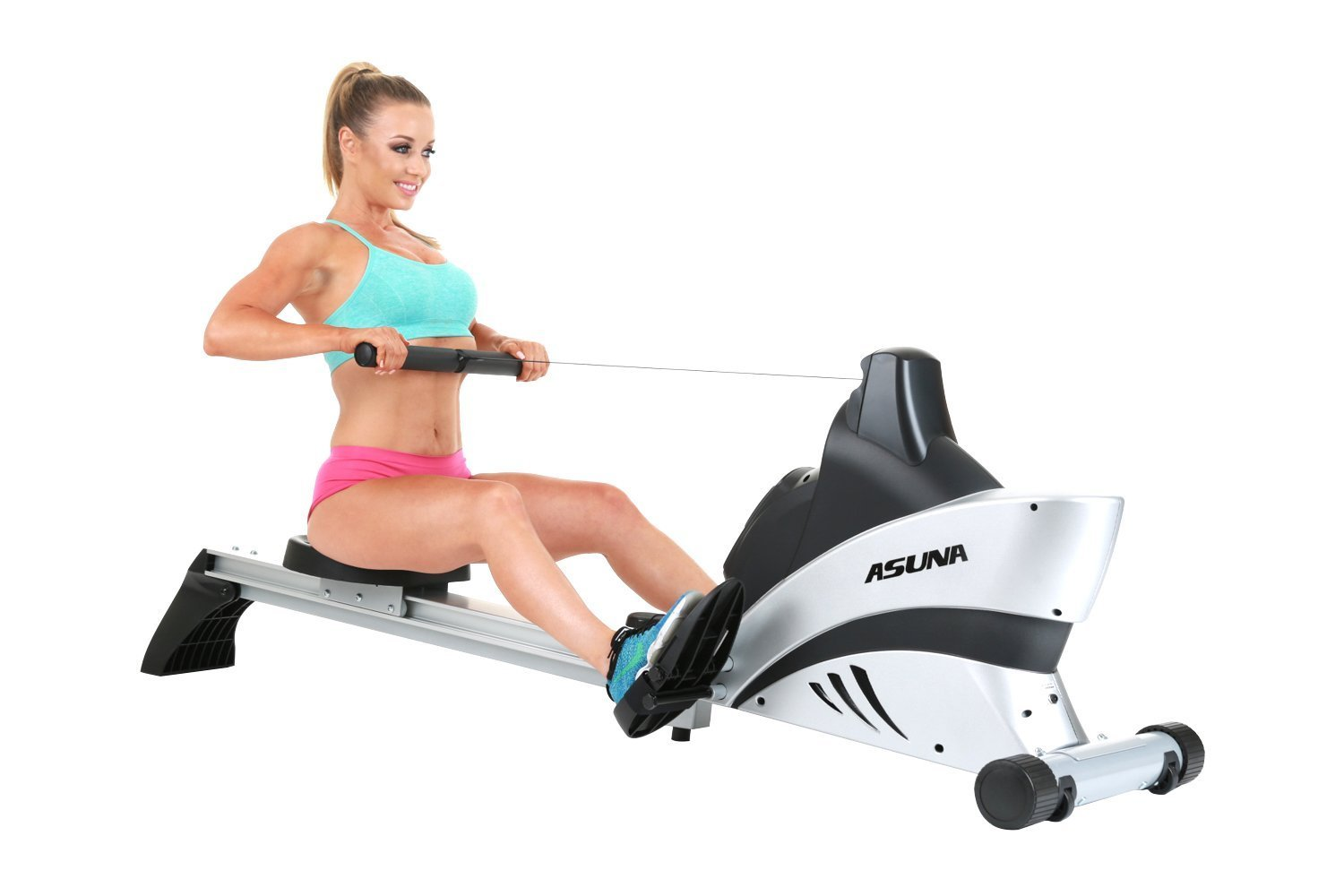 the Sunny Health & Fitness ASUNA 4500 Magnetic Rowing Machine in full glory