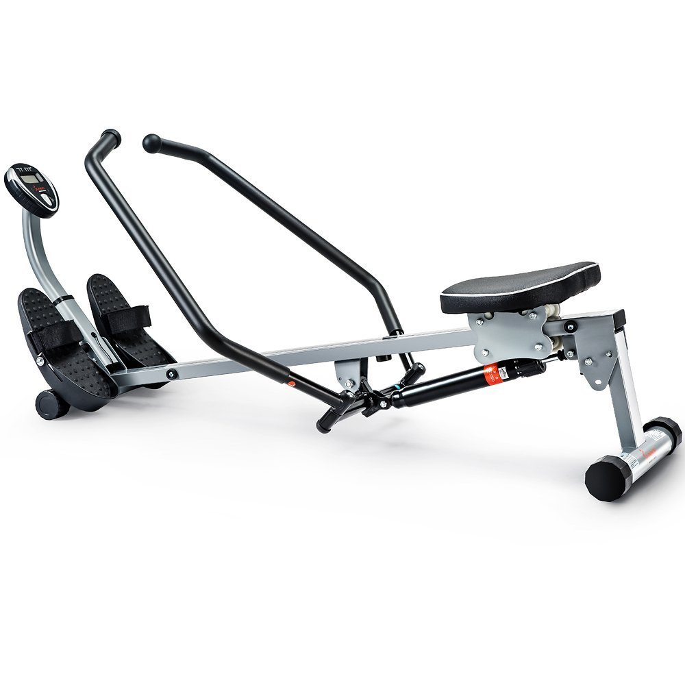 Sunny Health & Fitness Rowing Machine with Full-Motion Arms in full display