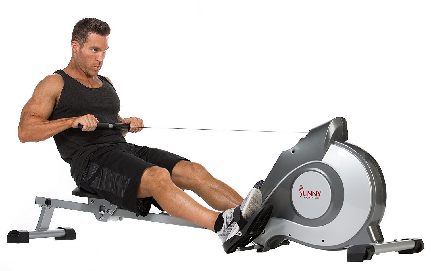 image showing the Sunny Health & Fitness SF-RW5515 Magnetic Rowing Machine
