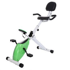 Ancheer Folding Recumbent Exercise Bike's features on full display