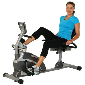 the Exerpeutic 900XL Extended Capacity Recumbent Bike pictured her is one of the best stationary bikes under $200