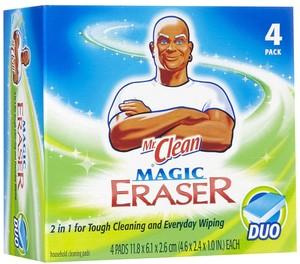 Mr. Clean Magic Eraser is shown here