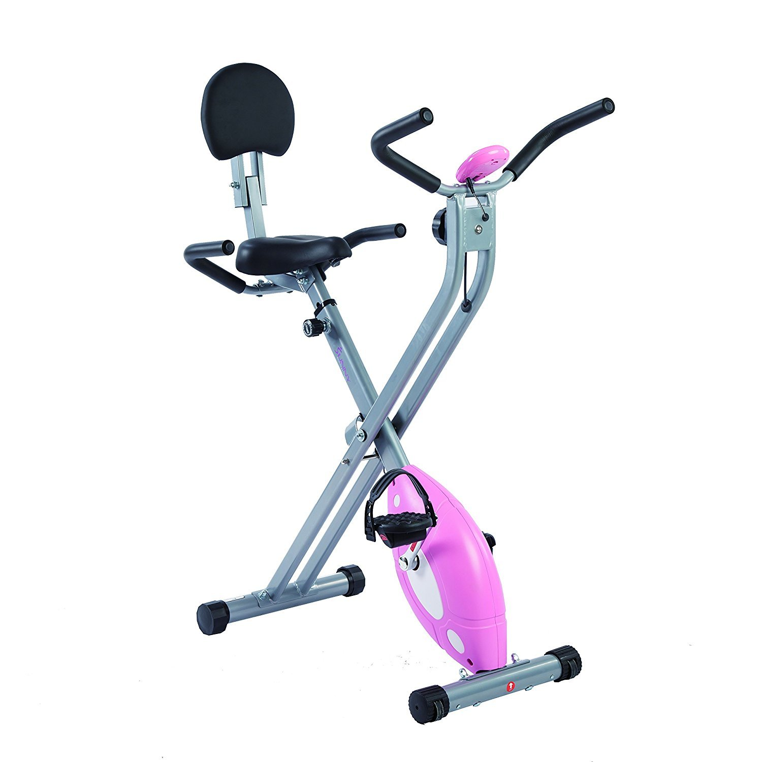 Sunny Health & Fitness Folding Recumbent Bike is pictured here