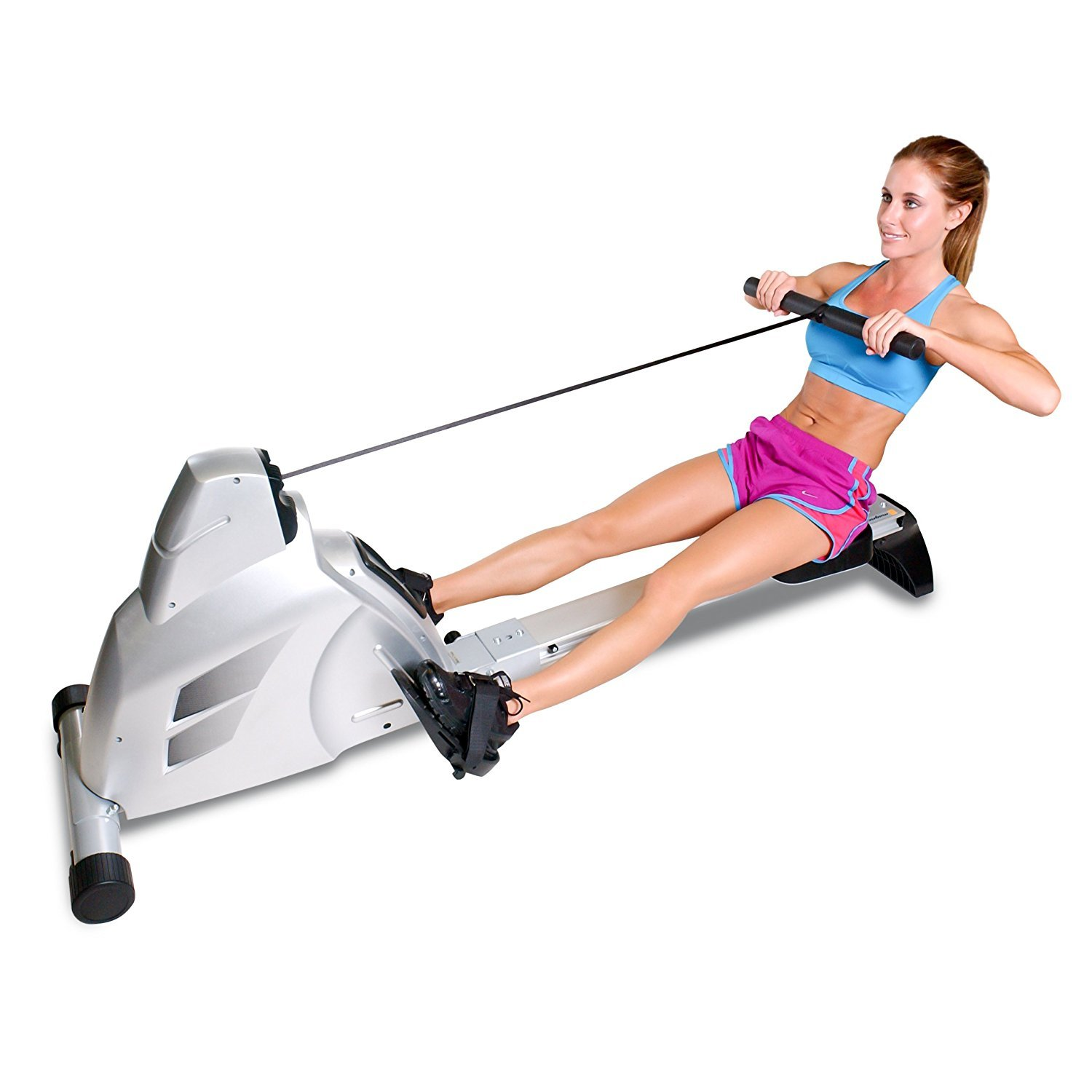 Velocity Exercise Magnetic Rower in use by woman