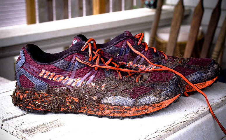 image showing wet muddy shoes