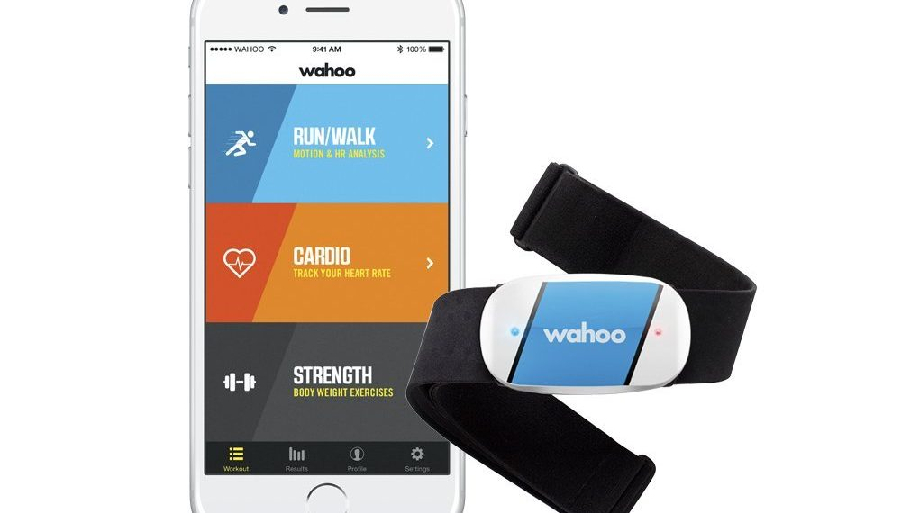 iPhone heart rate monitor with strap