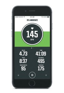 core heart rate stats displayed by an iPhone app