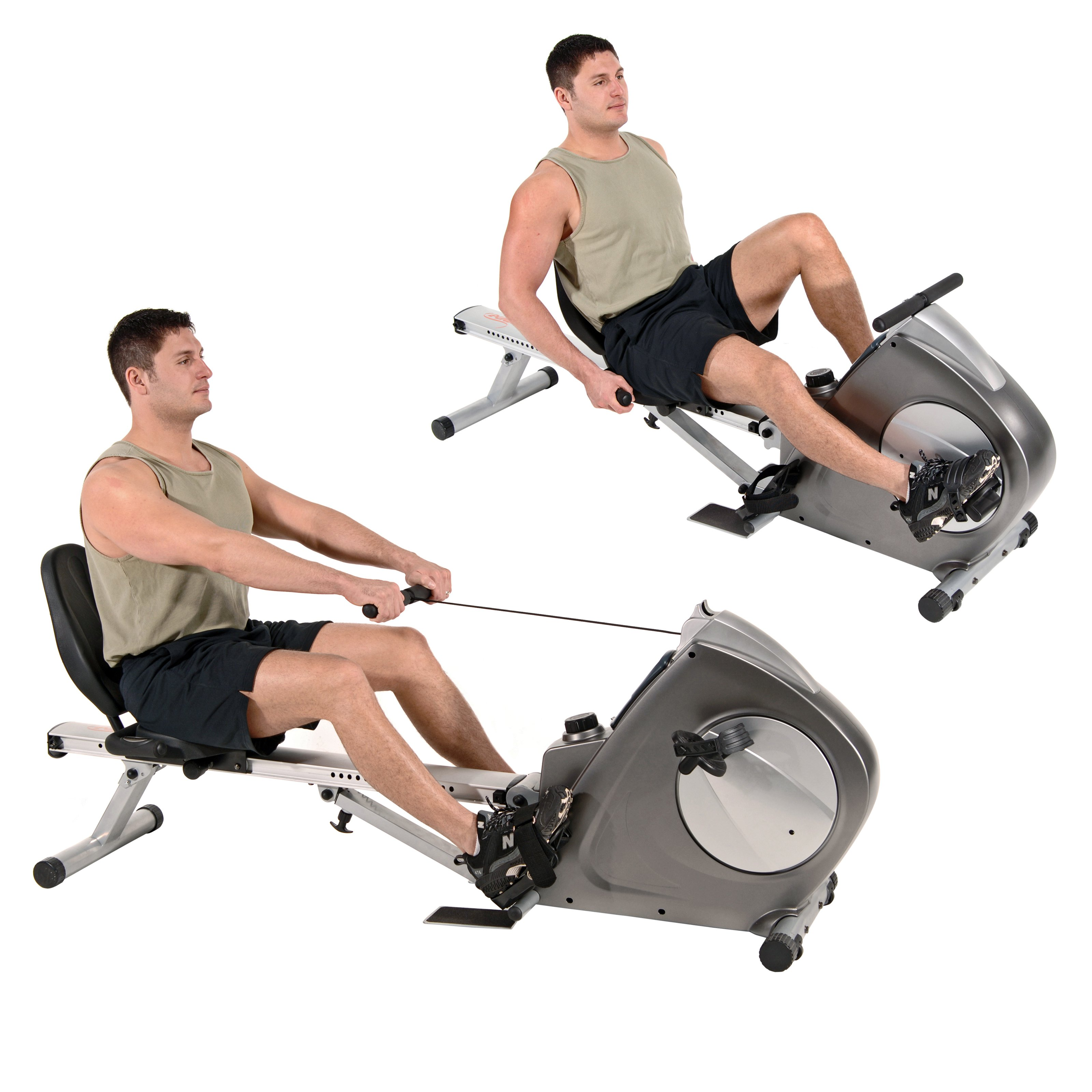pic showing rower vs exercise bikes