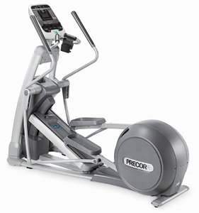 Precor elliptical on display