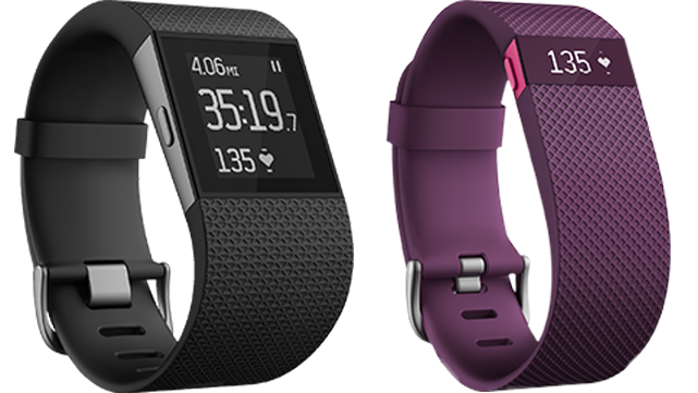 2 fitbit heart rate monitors side by side