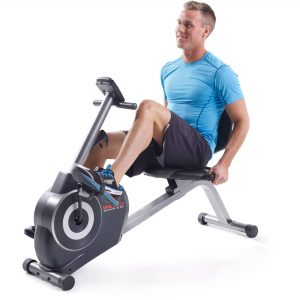 man on a recumbent bike